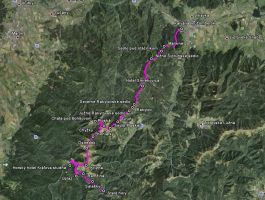 Celá trasa Staré Hory - Ružomberok